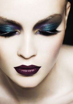 The Eye Shadow doesn't take away from those luscious PURPLE Lips.