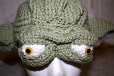 Yoda Hat (lots of pics) NOW WITH TUTORIAL!! - CROCHET