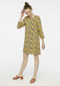 Amazing Yellow zebra print shift dress by Spanish brand Compañía Fantástica. With a round neck, elbow sleeves and closure at the back with slit and button. The perfect statement dress to brighten up your spring wardrobe. Shop zebra print dresses online now! #zebra #animalprint #dress #shiftdress Young Entrepreneurs, Colourful Outfits, Clothing Company, Boutique Dresses, Zebra Print, Dresses Online, Yellow, Print Shift, Clothes