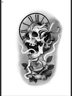 Mandala Tattoo Design, Tattoo Designs, Zodiac Sign Tattoos, Skull Tattoos, Black And Grey Tattoos, Chicano, Blackwork, Art Sketches, Tattoo Artists