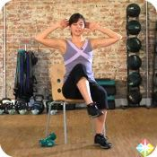 Seated Exercises: Upper Body Strength Training Great short upper body workout with some little different moves then the norm. Chair Exercises, Toning Exercises, Spark People, Benefits Of Exercise, Health Benefits, Senior Fitness, Shoulder Workout, Regular Exercise, Workout For Beginners