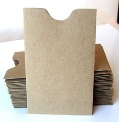 20 Mini Brown Bag Natural KRAFT Paper Card Sleeve Envelopes . 2.25 x 3.625. $6,00, via Etsy.