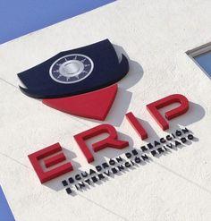 ERIP | Letrero 3D fabricado en aluminio con acabado en pintura esmalte y aplicación impresa en vinil autoadherible en alta resolución.