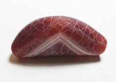 Frosted Sea-Glass Polish Dragon Veins Agate Crescent-Shaped Bead