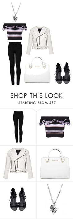 """""""Black and White"""" by almamehmedovic-79 ❤ liked on Polyvore featuring Wolford, MSGM, Marc Jacobs, Michael Kors and Disney Couture"""