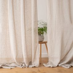 The Garza curtain with rod pocket is a super-light curtain with a delightfully sheer quality. It hangs beautifully and will add a simple elegance to your interior. Rod Pocket Curtains, Linen Curtains, Curtain Fabric, Curtain Lights, Simple Elegance, Natural Materials, Textiles, Luxury, Interior