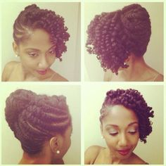 #NaturalCurl Inspiration for a great formal look. Especially prom, wedding…