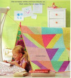 Just Bright Quilt Pattern Pieced UD