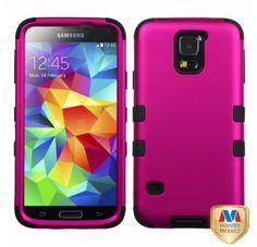 SAMSUNG Galaxy S5> Galaxy S5 титан сплошной остро-розовый черный TUFF Hybrid защитный чехол