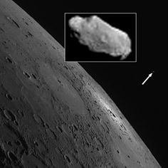 "A moon for Mercury… (or not!)   (Credit: NASA/Johns Hopkins University/APL/Carnegie Institution of Washington).  Spurious moons are apparently the ""low-hanging fruit"" of astronomical April Fools' pranks.  In 2012, an image of a purported moon of the planet Mercury's as discovered by the MESSENGER spacecraft appeared in the JPL Photojournal.   The captioning declared the moon had been named Caduceus and was 70 metres in diameter. Perhaps such a prank is appealing because there's nothing…"