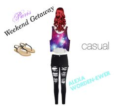 """""""paris weekend getaway"""" by theangel22 ❤ liked on Polyvore featuring Glamorous"""