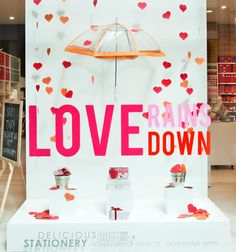 Love Rains Down #valentines window