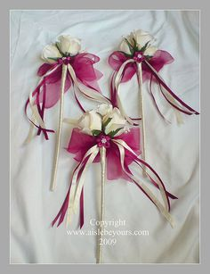 Flower wands, lovely design tho not my colour theme