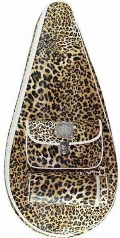 SlamGlam - Court Couture Leopard Barcelona Tennis Racquet Bag. The Barcelona Racquet Bag is just beautiful!  You will be impressed by the attention to detail, superb craftsmanship and quality that define these tennis bags.