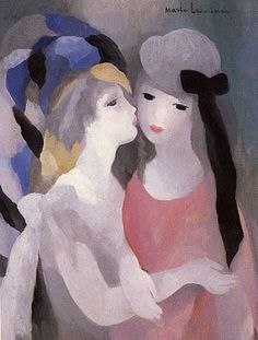 Marie Laurencin was born in Paris, where she was raised by her mother and lived much of her life. At 18, she studied porcelain painting in Sèvres, returned to Paris, continued her art education at the Académie Humbert, where she changed her focus to oil painting. During the early years of the 20th century, Laurencin was an important figure in the Parisian avant-garde. ~Via Carolyn Avellone