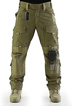 ZAPT Breathable Ripstop Fabric Pants Military Combat Multi-Pocket Molle Tactical Pants with EVA Knee Pads (Coyote Brown, S) Mens Tactical Pants, Tactical Wear, Tactical Clothing, Survival Clothing, Combat Pants, Pantalon Cargo, Army Camo, Camo Pants, Outdoor Outfit