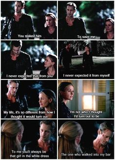 Sookie and Eric have a heart-to-heart. True Blood.