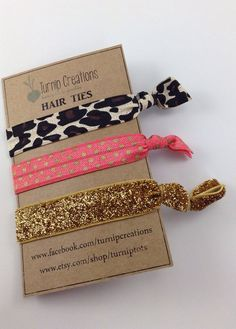 A perfect combination...Coral & Cheetah! So Trendy, Stylish and Chic! These FOE Hair Ties are perfect hair accessories for pulling back your hair and