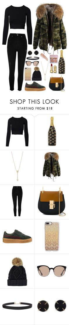 """""""Untitled #63"""" by lara-is ❤ liked on Polyvore featuring Marc Jacobs, EF Collection, River Island, Chloé, Puma, Casetify, Balenciaga, Humble Chic, Melissa Joy Manning and NARS Cosmetics"""