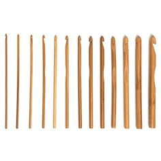 Gilroy 12 Sizes 6 Bamboo Handle Crochet Hook Knit Weave Yarn Craft Knitting Needle Set *** Click image for more details.