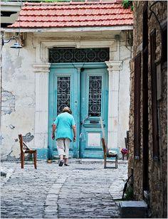 Old door, Lefkara , Cyprus