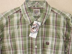 CINCH Jeans Youth Boys Shirt L/S Western Rodeo Cowboy buttons GREEN NWT LARGE 12 OUR PRICES ARE WAY BELOW RETAIL! www.baharanchwesternwear.com baha ranch western wear ebay seller id soloedition