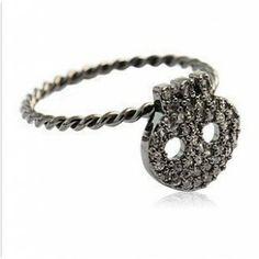 Fashion Lead-tin Alloy Wedding Owl Rings
