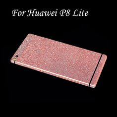 Full Body Protection Glitter Bling Sticker Case For Huawei Ascend P8 Lite Coque Shining Skin Cover For Huawei P8 Lite Funda