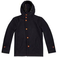 Edifice Melton Hooded Coat (Navy)
