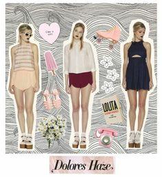 dolores haze collage, fashion, illustration