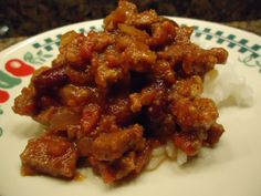 Paniolo (that's Hawaiian for Cowboy) Chili and Rice