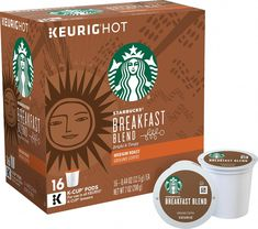 Designed for use with Keurig single-serve beverage machines, these Keurig 9513 Starbucks Breakfast Blend K-Cup® Pods feature medium-roast coffee for a bold flavor. The ensures you have a ready supply. Coffee K Cups, Coffee Creamer, Coffee Pods, Espresso Coffee, Starbucks Breakfast, Starbucks Coffee, Mini Plus, Blended Coffee Drinks, Homemade Iced Coffee