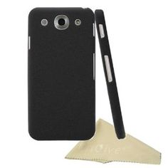 EnGive Slim Snap-on Fit Matte Quicksand Hard Cover Case Shell for LG Optimus G Pro with Cleaning Cloth (Black)