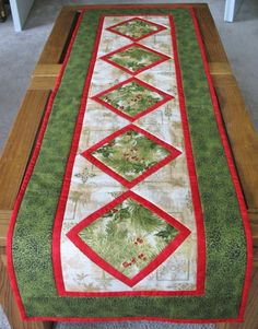 Christmas Table Runner Quilted made from by ... | table runners