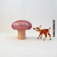 Brilliant! - Glitter mushroom | CHECK OUT MORE GREAT PINK WEDDING IDEAS AT WEDDINGPINS.NET | #weddings #wedding #pink #pinkwedding #thecolorpink #events #forweddings #ilovepink #purple #fire #bright #hot #love #romance #valentines #pinky