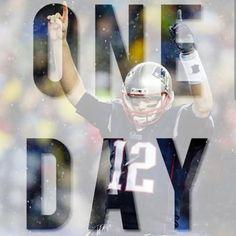 1 MORE DAY!!!!!!!!!! #PatriotsNation #SuperBowlXLIX