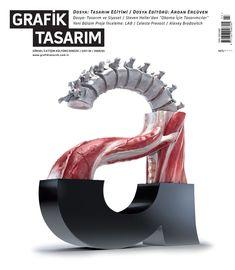 Grafik Tasarim (Turkey) magazine cover by Barış Sarhan & Ahmet Eken (via TypeTheory)