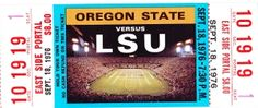 1976 LSU vs. Oregon State vintage football poster. LSU football gifts! http://www.lsufootballgifts.com/ #gifts #Christmasgifts #football
