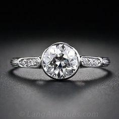 1.00 Carat Diamond Antique Engagement Ring
