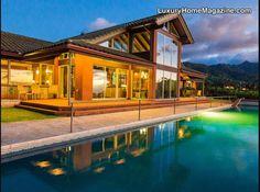 Backyard and pool in Hawaii