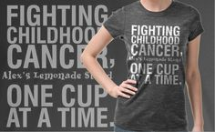 Look cute & help fight #childhoodcancer - pick up this exclusive Love + Water tee & 50% of each sale benefits ALSF. (Oh my heck! If I ever do an ALS, I will NEED to have this shirt on!)