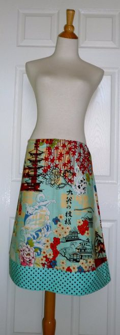 WOMEN  Aline SKIRT  Alexander Henry  Koto  You by BoutiqueMiaByCXV, $44.00-- Want. Oh, I want this so hard.