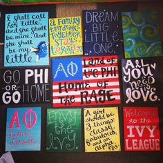 Alpha Phi. Big/little crafts for my best friend's sorority. So many crafts!! :) The big/little reveal is tonight! by susanhall