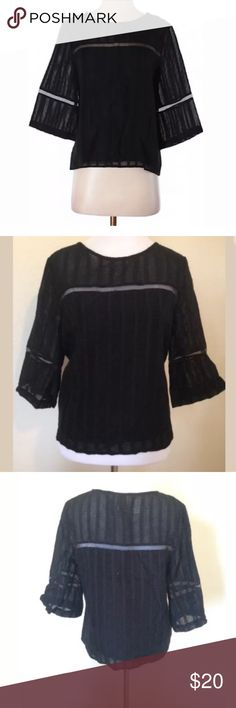 Anthropologie HD in Paris Blouse Black Lace Boho Gorgeous condition - 3/4 sleeves. Perfect to wear dresses up or down! Anthropologie Tops Blouses