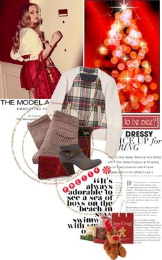 """""""how red can you get, Rudolph?"""" by lseed87 ❤ liked on Polyvore"""