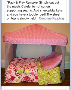 Genius. Toddler bed out of a pack n play