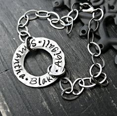 Hand Stamped Bracelet  Personalized Bracelet  by yourcharmedlife, $50.00