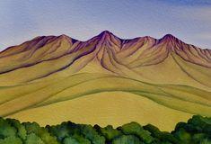 Te Mata Peak by Raewyn Harris Nz Art, Watercolor Paintings, Illustrations, Artists, Comics, Drawings, Wedding, Watercolor Painting, Valentines Day Weddings