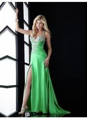 Bright green dress