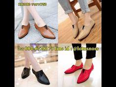 รองเท้าส้นเตี้ย ใส่สบายดีไซน์แบรนด์แฟชั่นเกาหลี นำเข้าไซส์34ถึง39 พรีออเดอร์RB2180 ราคา1750บาท - YouTube